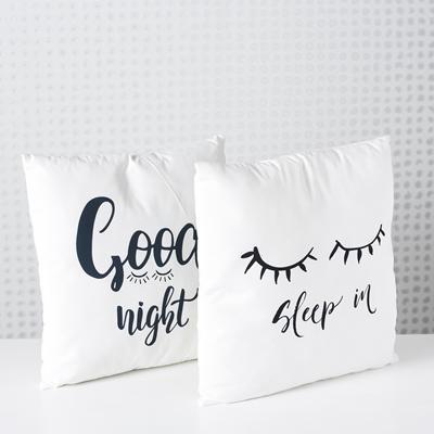 ΜΑΞΙΛΑΡΙΑ GOOD NIGHT/SLEEP Rosel 2/ass 45x45cm 100% polyester ΑΣΠΡΟΜΑΥΡΟ, ΠΛΥΣΙΜΟ ΣΤΟ ΧΕΡΙ polyester