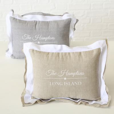 cushion Hampton 2ass 50x30cm 30° machine wash material: Cover: 100% cotton Filling: polyester closing possibility: zippe