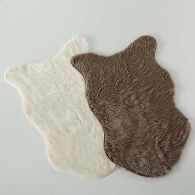 ΧΑΛΑΚΙ ΓΟΥΝΑ 2/ass ΛΕΥΚΟ/ΚΑΦΕ Skoldi  90X60cm 80% acrylic, 20%polyester spot clean only