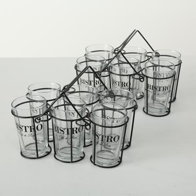 ΚΑΛΑΘΙ 2/ass, ΜΠΟΥΚΑΛΙΩΝ/ΠΟΤΗΡΙΩΝ  Bistro, 7 p,  W17 cm, Klarglas