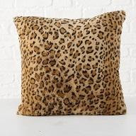ΜΑΞΙΛΑΡΙ  Leopard, Polyester, material:100Propolyester 30 machine wash Filling 400g Brown, L 45 cm, W 45 cm polyester br
