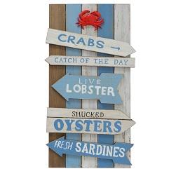 ΣΗΜΑΝΣΗ ΞΥΛΙΝΗ ΜΕ ΚΑΒΟΥΡΗ Crabs,W2cm, L33cm, H60cm, Paulownia